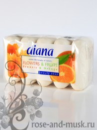 DIANA FRUITS&FLOWERS мыло ФРЕЗИЯ-АПЕЛЬСИН (5 шт.)